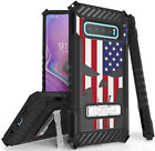 Rugged Case Cover Stand + Strap for Samsung Galaxy S10 Plus - Patriotic Series