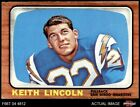 1966 Topps #127 Keith Lincoln Chargers Washington St 5 - EX $4.5 USD on eBay