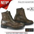 Falco Aviator Motorcycle/ Bike Men's Waterproof Leather Boots│Brown│All Sizes