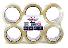 6 Pack Heavy Duty Packaging Tape Clear Packing Tape for Moving Boxes Shipping