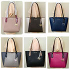 Michael Kors Kimberly Small Bonded Leather Signature Top Zip Tote