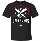 NEW DC Defenders XFL² 2020 Mens Short Sleeve T-Shirt Black Cotton Tee image