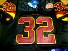BRAND NEW Washington Redskins Throwback #32 Ricky Ervins sewn Jersey BLACK Mens $39.91 USD on eBay