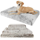 Orthopedic Dog Bed Mattress With Plush Fleece For Medium Large Pets Up To 127cm