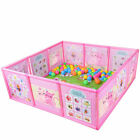 Cartoon Kids Play Pen Fence Playpen Baby Safety Pool Game Toddler Craw 47.2 in