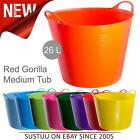 Red Gorilla Tubtrug Flexible Tub - 26 Litre│For Water Feed Food Bucket│Medium