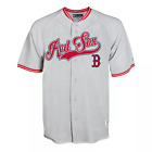 Men's Boston Red Sox Gray Retro Jersey - New with Tags - Grey with red writing on Ebay