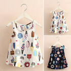 Summer Toddler Baby Girls Party Dress Beach Holiday Casual Sleeveless Sundress