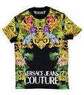 Versace Jeans Couture Black 100% Cotton Baroque Print Short Sleeve Knit