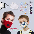 Kyпить Reusable Cotton Face Mask Mouth Face Cover w/Respirator + PM2.5 Mask Filters Lot на еВаy.соm