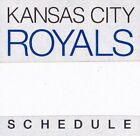 1980's to 2000's MLB Kansas City Royals Baseball Schedule - U-Pick From List on Ebay