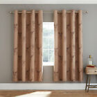 Catherine Lansfield Stag Print Easy Care Lined Eyelet Curtains