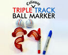 Custom Callaway Triple Track Golf Ball Marker Chrome Soft ERC Sharpie Ultra Fine