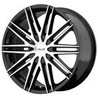 "Helo HE880 17x7.5 4x100/4x4.5"" +42mm Black/Machined Wheel Rim 17"" Inch $172.99 USD on eBay"