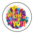 "30 HAPPY BIRTHDAY TO YOU ENVELOPE SEALS LABELS STICKERS PARTY FAVORS 1.5"" ROUND"