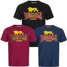 Lonsdale Classic Logo T-Shirt Black Oxblood Blue 100% Cotton Regular Fit Hemd