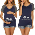 Ekouaer Maternity Clothes Women's Nursing Tops for Breastfeeding Tee Shirts Soft