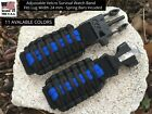 24 mm Black Adjustable Survival Paracord Watch Band Bracelet Replacement