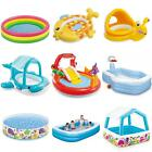 Kids Children Paddling Pool Set Swimming Outdoor Garden Water Splash Fun Summer