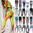 Womens Yoga Pants Butt Lift Fitness Leggings Gym Sport Workout Trousers 3D Print