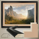 "44W""x32H"": LOOKING DOWN YOSEMITE BY A. BIERSTADT - DOUBLE MATTE, GLASS and FRAME"