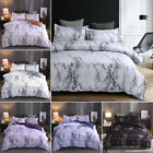 3 Pieces Marble Printed Comforter / Duvet Cover Set Queen King Bedding Quilt Set