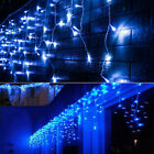 CHRISTMAS LED BLUE SNOWING ICICLE BRIGHT PARTY WEDDING XMAS OUTDOOR LIGHTS USA