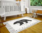 Personalized Nursery Rug Custom Kids Bedroom Carpet Bear Area Rugs Playroom Mat