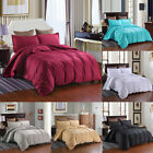 Striped Duvet Cover Set  2 Pillow Shams Ultra Soft Brushed Microfiber Queen King image