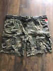 MOSSIMO CARGO CAMO BROWN SHORTS W/BELT MENS Sz 52&54 BIG & TALL #529281 NWT ND