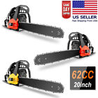 3.5HP Guide Board Chainsaw Gasoline Powered Handheld Chain Saw 58CC/62CC Cutting