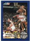 NBA Card 1992-93 Fleer Michael Jordan Team Leader / Basketball Trading Card