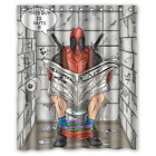 New!!! Funny-deadpool-in-the-bathroom Waterproof Shower Curtain Exclusive Design
