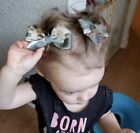 Lot 2 Army Digital Camouflage Camo Dainty Pigtail Hair Bows Set Baby Toddler