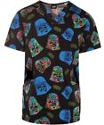 Star Wars Darth Vader Scrub Top Mens V-Neck XS Cherokee Tooniforms Uniform Medic $29.99 USD on eBay