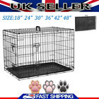 Small Medium Large XL XXL Pet Dog Cage Crate Foldable Transport Carrier 2 Doors