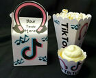 Tiktok Pink Gift/favor Box/cupcake Wrapper/popcorn Box/birthday Party Decoration