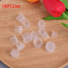 100OLs Tattoo Ink Cups Container Plastic Clear Permanent Makeup Pigment Caps_ng