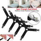1/2/4xTriangle Bed Sheet Mattress Holder Fastener Grippers Clips Suspender St_ng