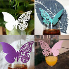 50 PCS Creative Wedding Party Supplies Paper Butterfly Print Wine Cup Paper Card