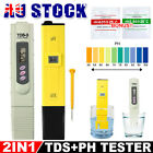 LCD Digital PH Meter / TDS EC Water Quality PPM Monitor Hydroponic Tester