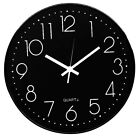 12 Inch Round Wall Clock Silent Non-Ticking Quartz Easy to Read For Home Office