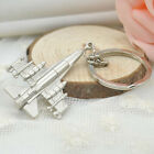 Storage Ornament Airplane SHAPE Gift Portable Craft Accessories Silver Key Chain