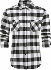 Emiqude Western Shirts for Men with Two Pockets Slim Fit Plaid Mens Long Sleeve