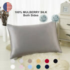 100% Pure Mulberry Silk Pillowcase Bed 19 Momme for Hair and Skin Hidden Zipper image