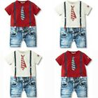Kyпить 1pc Baby clothes infant boys bodysuit summer newborn T-Shirt jumpsuit gentleman на еВаy.соm