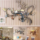 3d Mirror Flower Wall Sticker Decal Self Adhesive Home Room Art Decor Removable