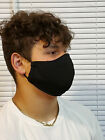 XXL Face Mask Solid Black Double Layer reusable washable Unisex Made In The USA