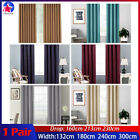 2x Blockout Curtains 3 Layers Fabric Thermal Insulation Blockout Eyelet Pair