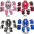 Kids Bike Bicycle Safety Skate Helmet And Knee Elbow Pad Set For 5-15 Aged Child